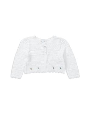 Ralph Lauren Girls Embroidered Pointelle Sweater  Baby