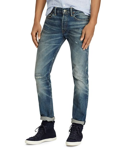 Polo Ralph Lauren - Varick Slim Straight Fit Jeans in Blue