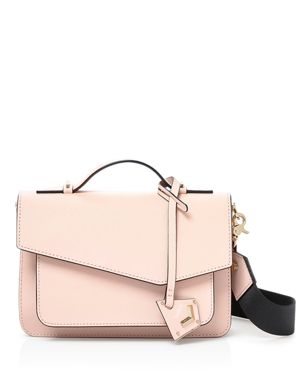COBBLE HILL LEATHER CROSSBODY BAG - PINK
