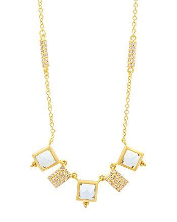 "Freida Rothman - Ocean Azure Charm Necklace, 16"""