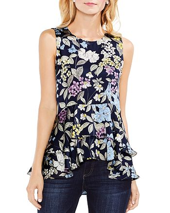 VINCE CAMUTO - Floral Tiered-Peplum Top