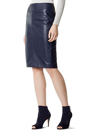 KAREN MILLEN - Faux Leather Pencil Skirt