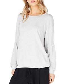 Michael Stars - Gathered Sleeve Sweatshirt