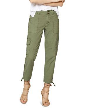 Terrain Linen Crop Cargo Pants, Cadet