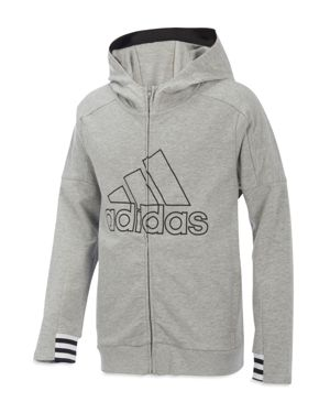 Adidas Boys' Zip-Up Hoodie Jacket - Big Kid