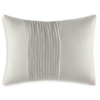 """Vera Wang - Ripple Tucks Decorative Pillow, 12"""" x 16"""""""