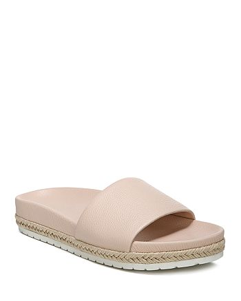 Vince - Women's Aurelia Leather Pool Slide Sandals