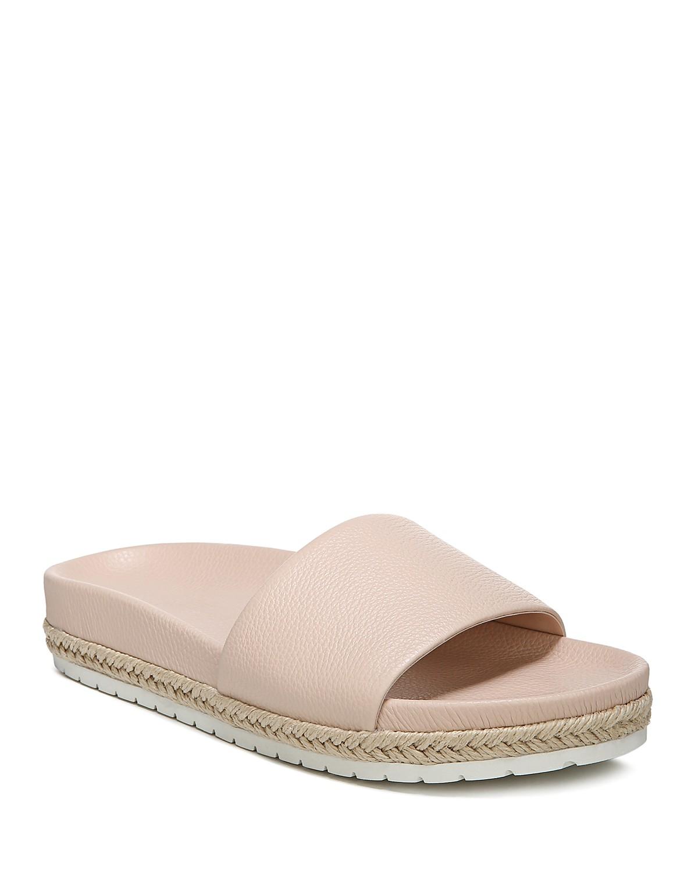 Vince Women's Aurelia Leather Pool Slide Sandals Sale Wiki ZkbK4Dsxv