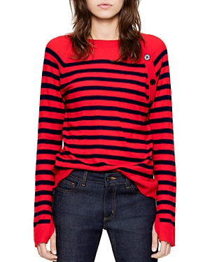 Zadig & Voltaire Reglis Stripes Cashmere Sweater