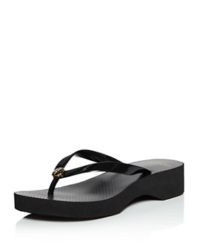 f6f419f0e Tory Burch - Women s Cut-Out Wedge Flip-Flops ...