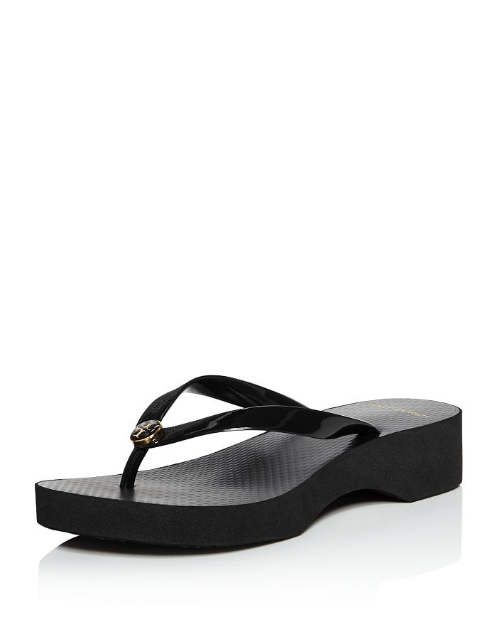 Tory Burch - Women's Cut-Out Wedge Flip-Flops