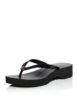 Women'S Cut-Out Wedge Flip-Flops, Fresh Melon