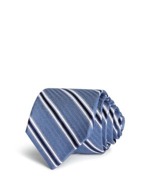 The Men's Store at Bloomingdale's Textured Striped Classic Tie - 100% Exclusive