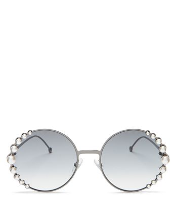 df725fdf63 Fendi - Women s Ribbons and Pearls Oversized Round Sunglasses