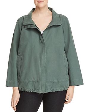 New Eileen Fisher Plus Zip-Front Jacket, Nori