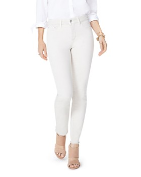 NYDJ - Sheri Frayed-Hem Slim Ankle Jeans in Feather