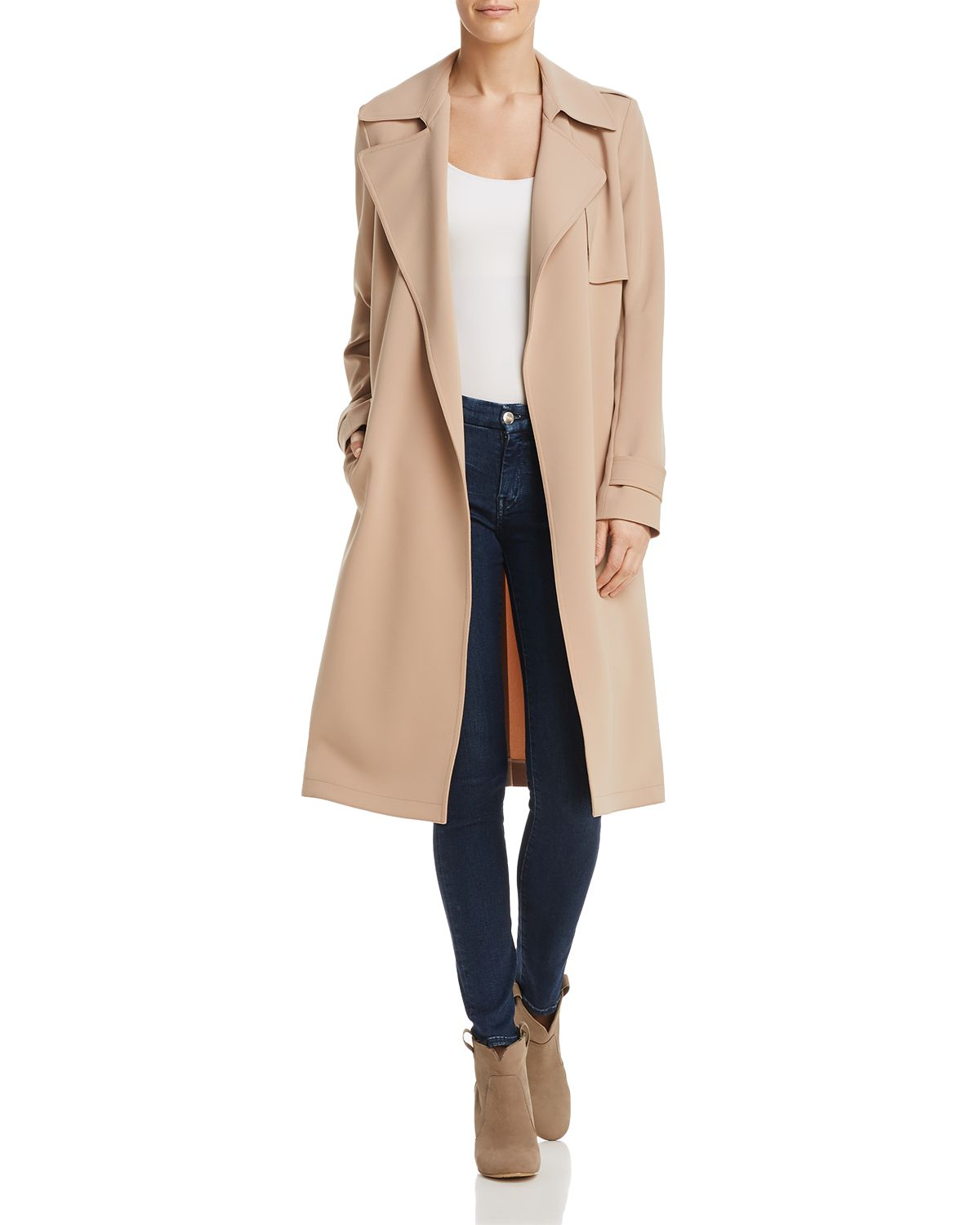 Oaklane Admiral Crepe Trench Coat   100 Percents Exclusive by Theory