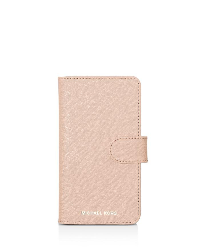 c6a82515432b MICHAEL Michael Kors Folio Leather iPhone X Phone Case | Bloomingdale's