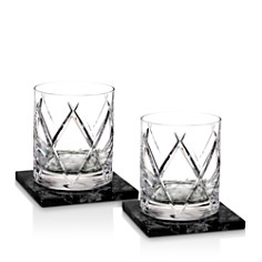 Waterford Olann Double Old Fashioned with Marble Coasters, Set of 2 - Bloomingdale's_0