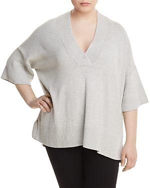Lafayette 148 New York Plus Relaxed V-Neck Sweater