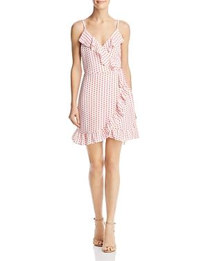 Aqua Ruffled Polka Dot Faux-Wrap Dress - 100% Exclusive