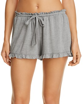 Josie - Heathered Ruffle Sleep Shorts