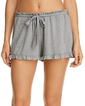 Josie - Heathered Ruffle Sleep Shorts