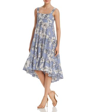 DO AND BE TIERED FLORAL PRINT DRESS