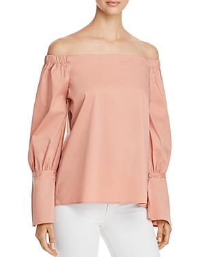 B Collection by Bobeau Coye Poplin Off-the-Shoulder Top