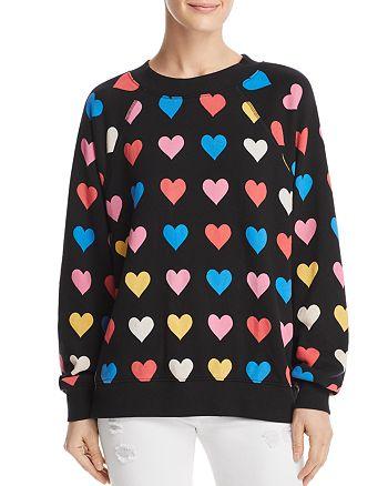 WILDFOX - Heart Print Sweatshirt