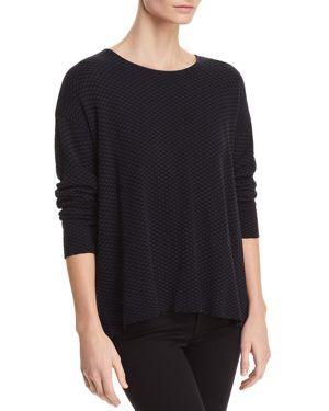 Eileen Fisher Petites Textured Split-Back Sweater