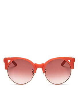 Pared Eyewear - Women's Up & At Em Oversized Round Sunglasses, 55mm