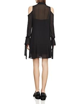 BCBGMAXAZRIA - Arieta Cold-Shoulder Tie-Neck Dress