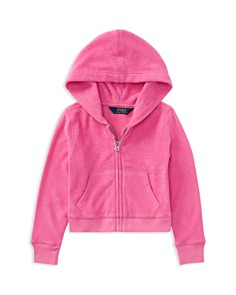 Polo Ralph Lauren Girls' Terry Hoodie - Little Kid - Bloomingdale's_0