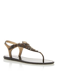 COACH - Women's Tea Rose Multi Jelly Thong Sandals