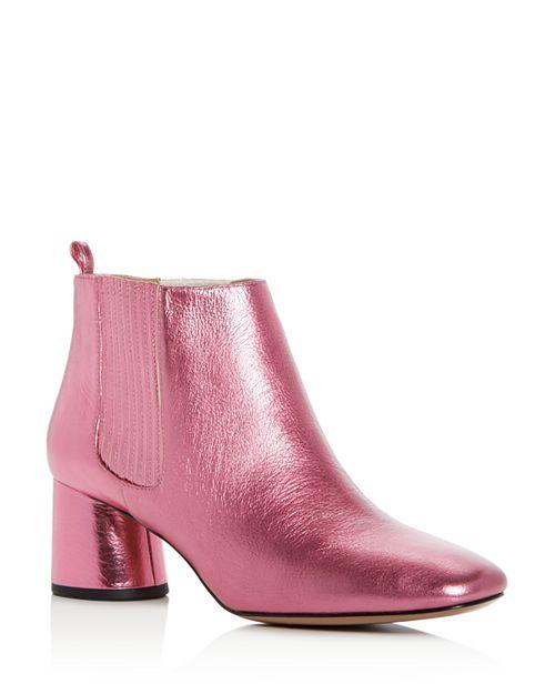 MARC JACOBS - Women's Rocket Leather Round Block Heel Chelsea Booties