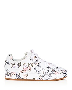 rag & bone - Women's Floral Print Leather Lace Up Platform Sneakers