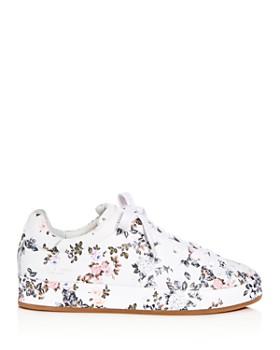 rag & bone - Women's Floral Print Leather Lace Up Platform Sneakers