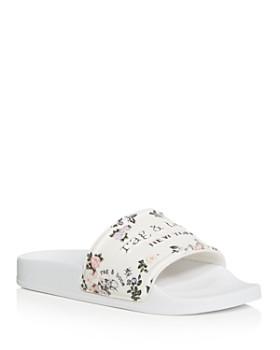 rag & bone - Women's Floral Print Pool Side Sandals