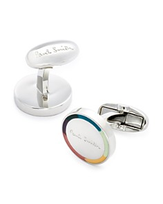 Paul Smith Logo Stripe Circle Cufflinks - Bloomingdale's_0