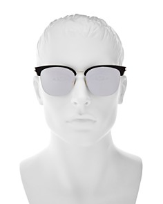 Saint Laurent - Men's Zero Base Mirrored Square Sunglasses, 56mm
