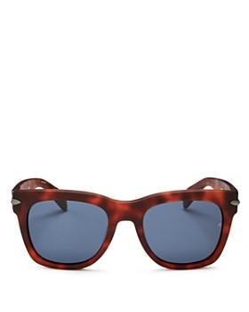 rag & bone - Men's Iconic Classic Polarized Square Sunglasses, 55mm