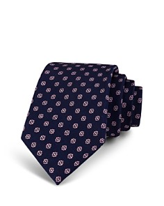 The Men's Store at Bloomingdale's Neat Mini-Floral Silk Classic Tie_0