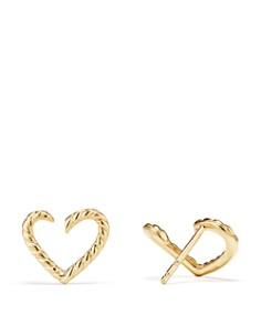 David Yurman - Cable Heart Earrings in 18K Gold