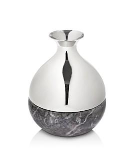 ANNA new york - Dual Bud Vase, Canico Silver