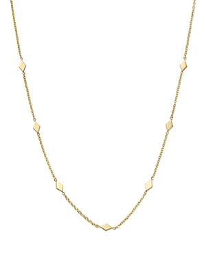 Zoe Chicco 14K Yellow Gold Itty Bitty Diamond-Shape Choker Charm Necklace, 14