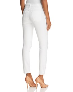 J Brand - Alana High Rise Crop Jeans in Destructed Blanc - 100% Exclusive