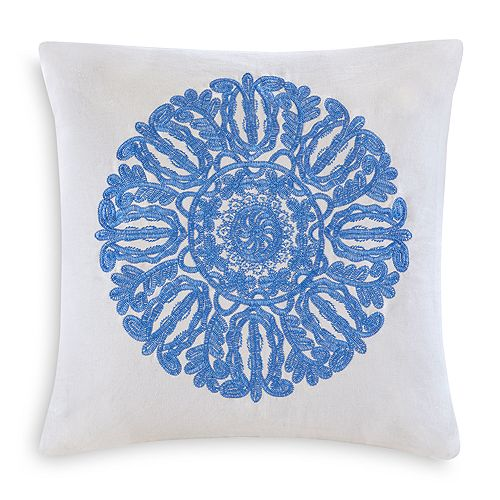 "Echo - Ravi Embroidered Decorative Pillow, 18"" x 18"""