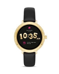 kate spade new york - Gold-Tone Scalloped Case Smartwatch, 42mm