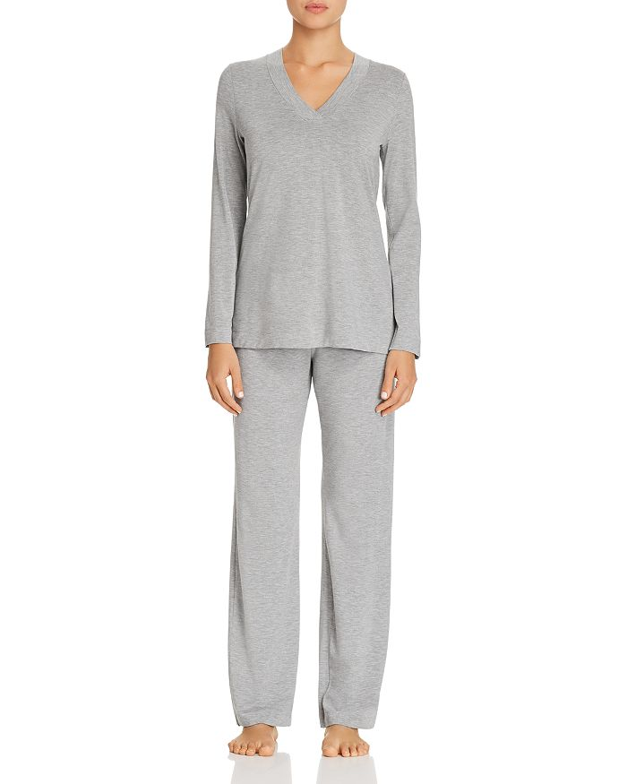 Hanro - Champagne Long Sleeve Pajama Set